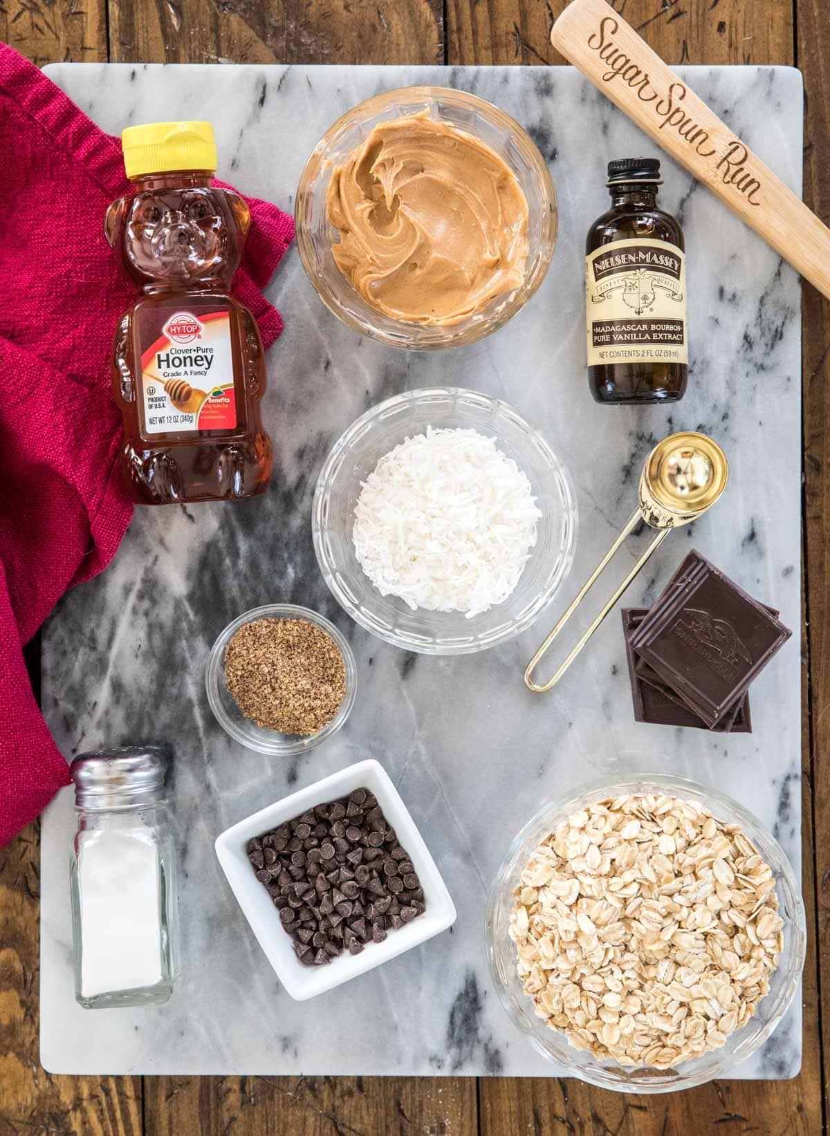 overhead view of ingredients