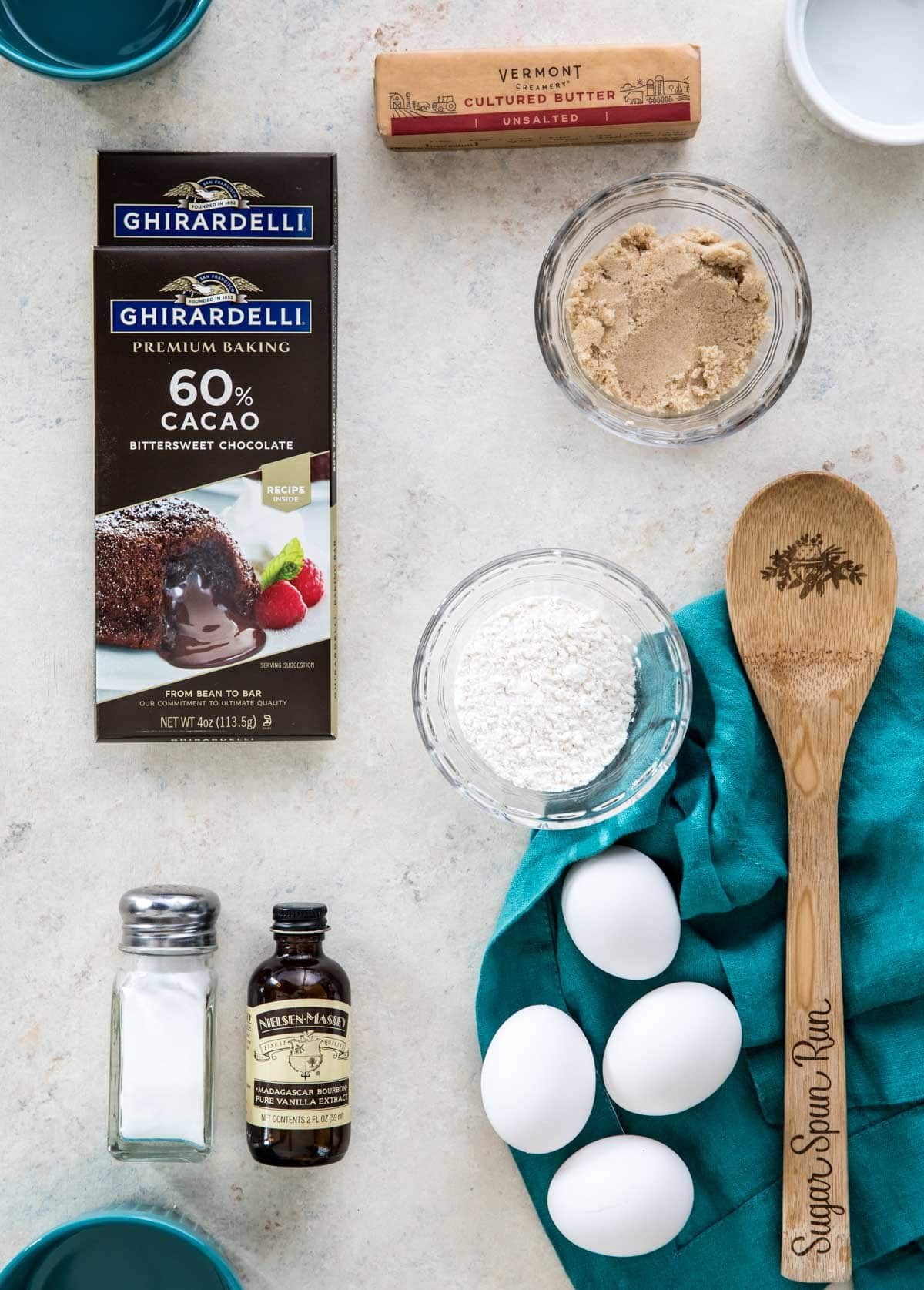 ingredients for lava cakes