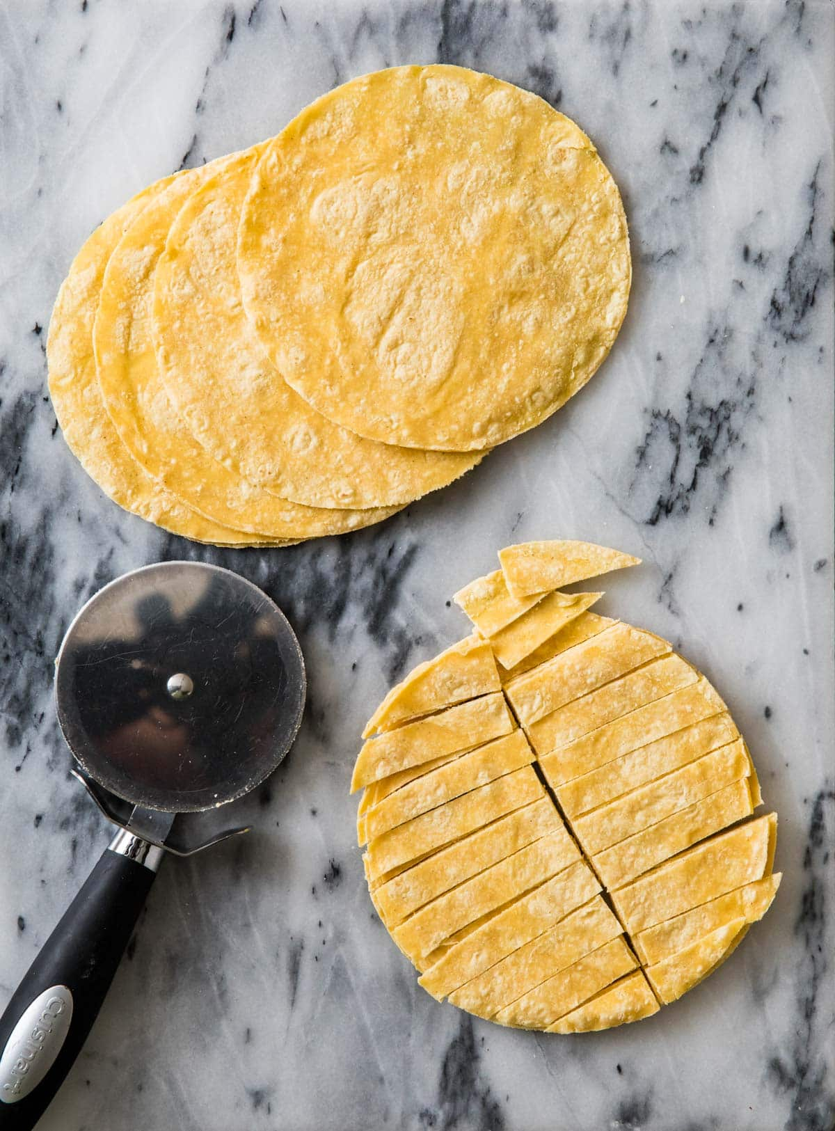 how to slice tortillas