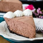 Slice of chocolate icebox pie