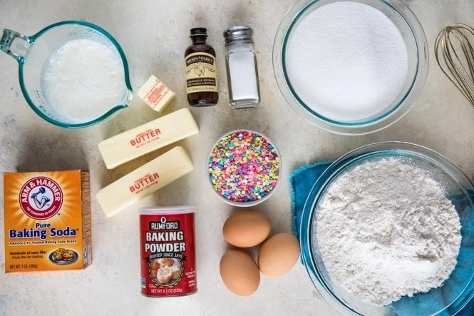 Ingredients for Birthday Cake