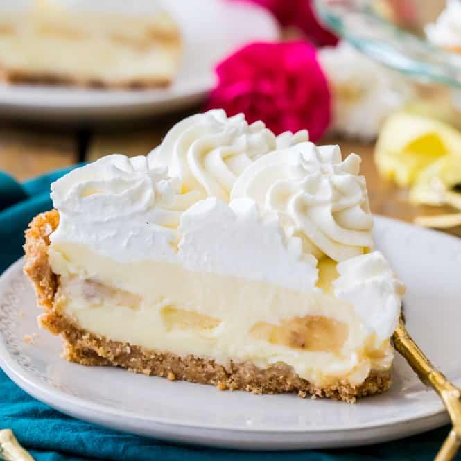 Banana Cream Pie slice on plate