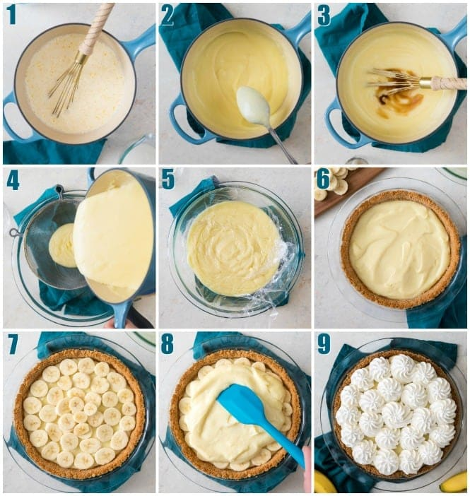 How to make Banana Cream Pie: 9 step-by-step photos