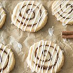Cinnamon roll cookies parchment paper