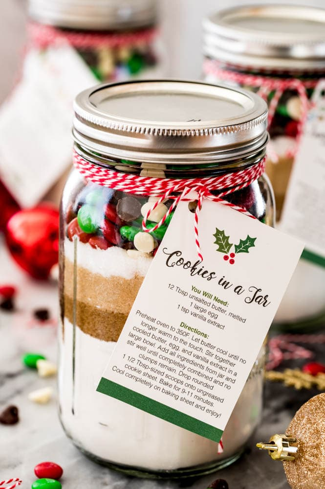 Giftable Cookie Mix In A Jar With Free Printable Sugar Spun Run