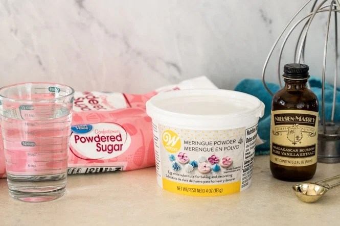 Ingredients for making Royal Icing