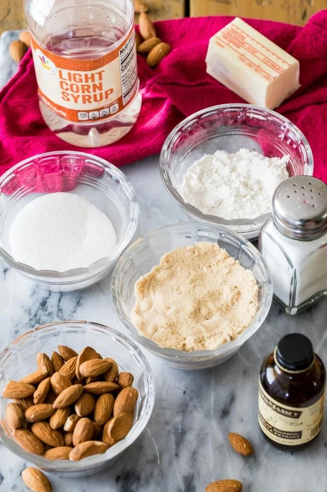 Ingredients for Lace Cookies