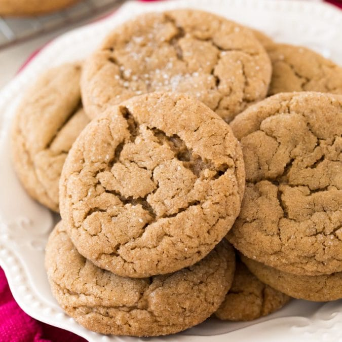 Cookies on white plate