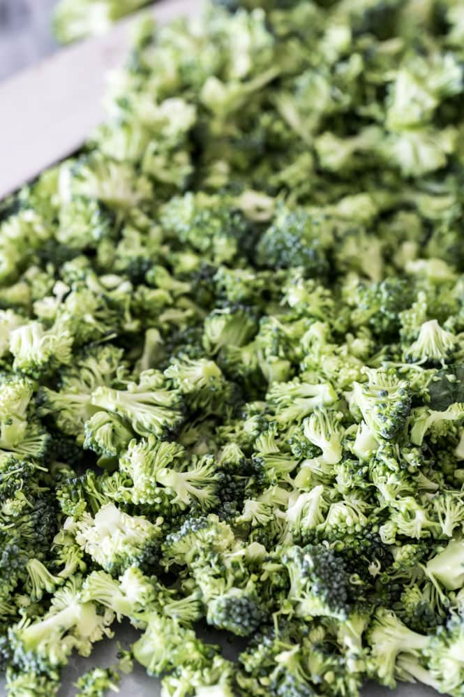 Finely chopped broccoli