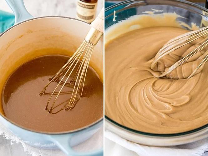 Making caramel icing
