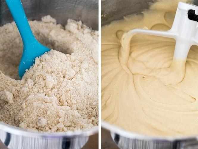 Making caramel cake batter