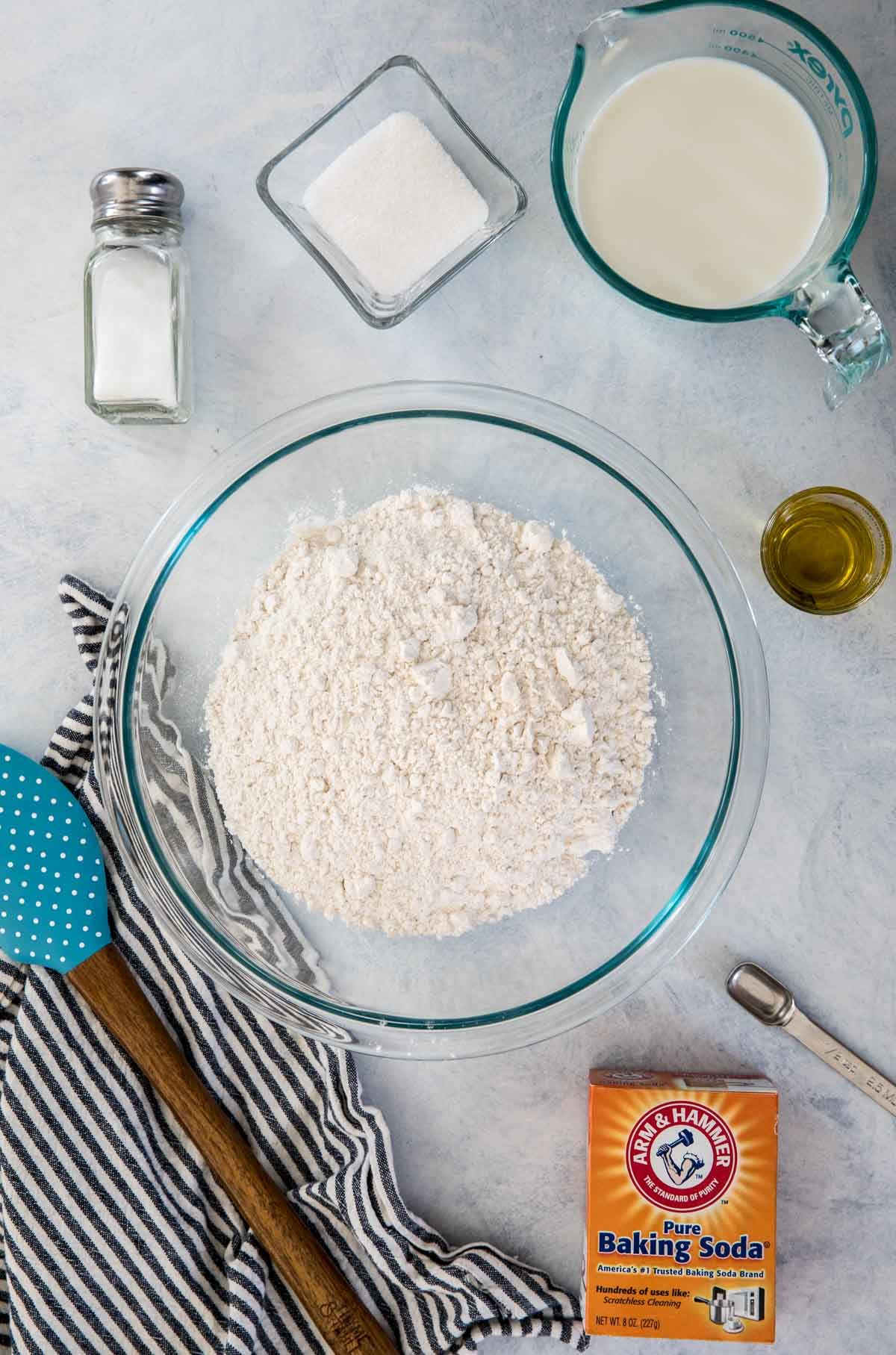 Ingredients for no yeast soda bread