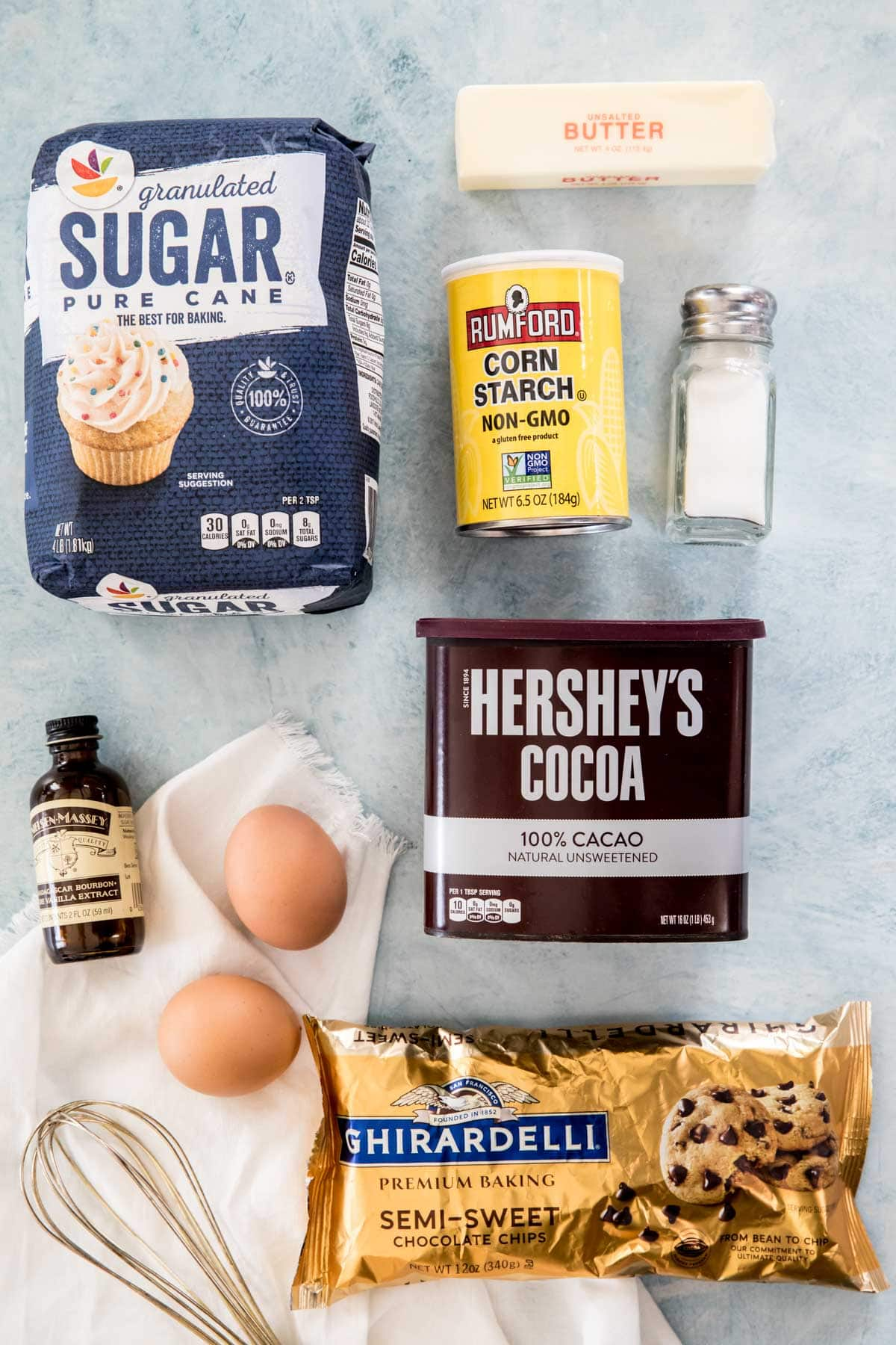 Ingredients for flourless brownies