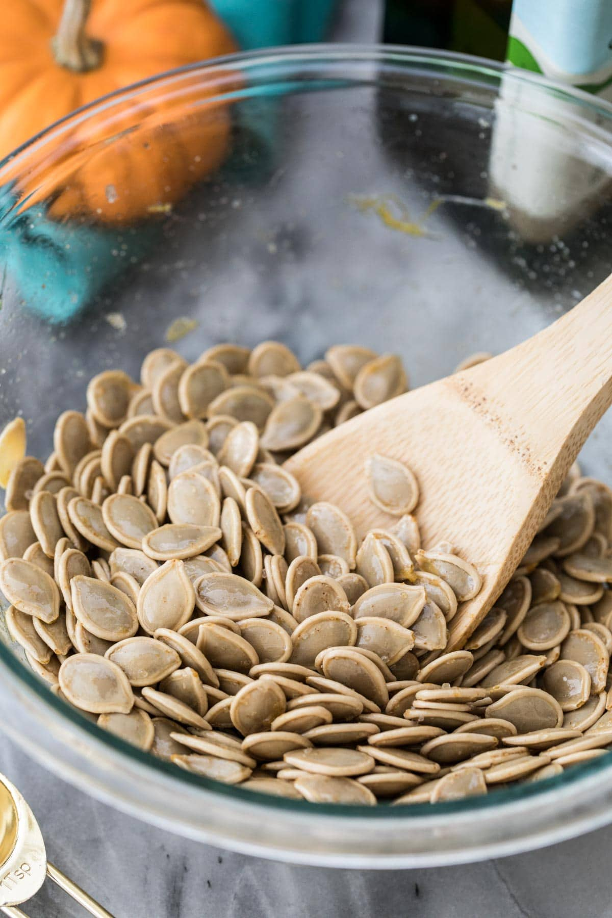 pumpkin seeds after boiling