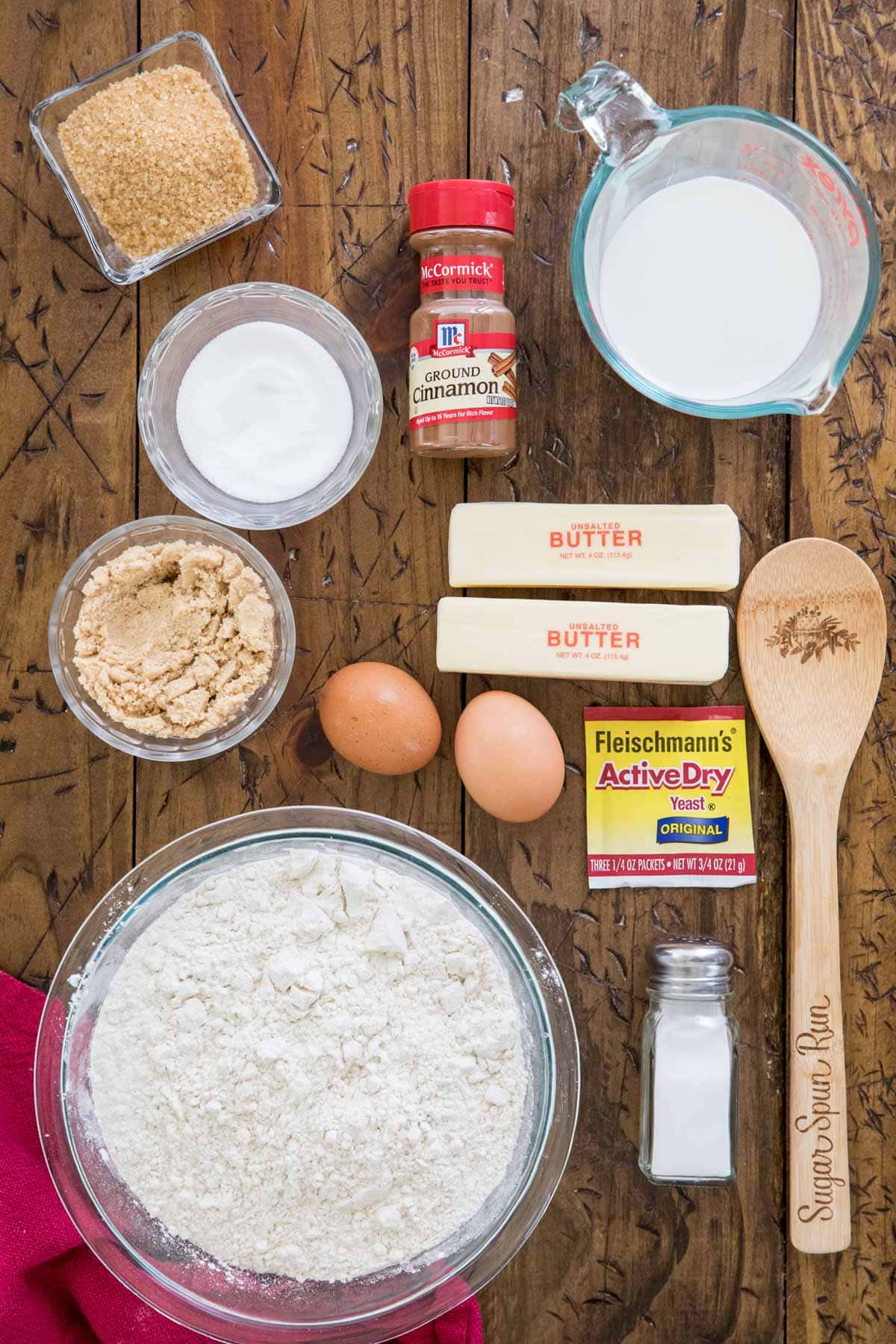 Ingredients for star bread
