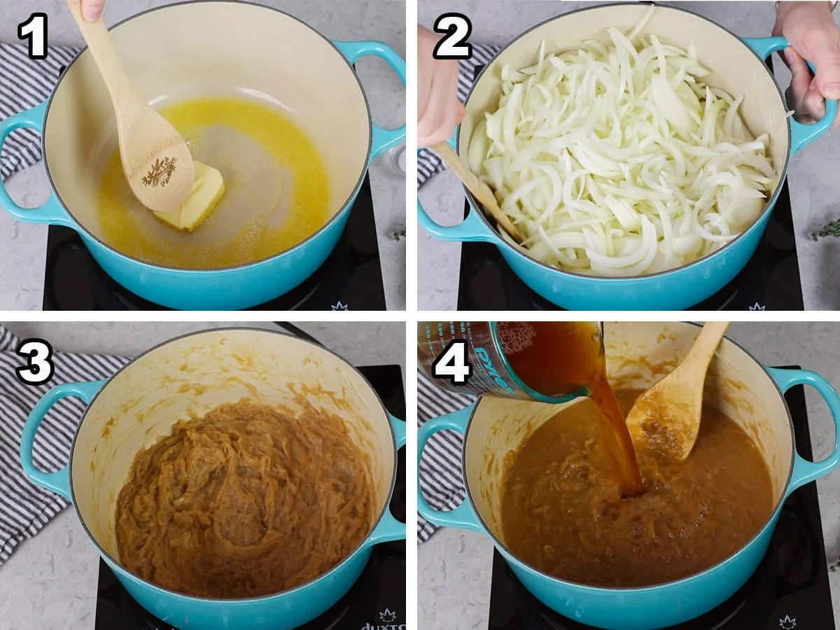 4 steps to making french onion soup