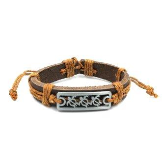 Schildpadjes armband bruin