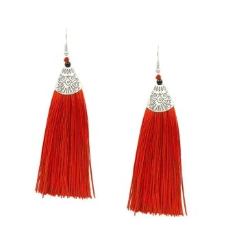 Tassel oorbellen rood