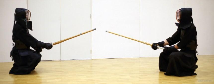 Kendo : en sonkyo avant le début du combat....