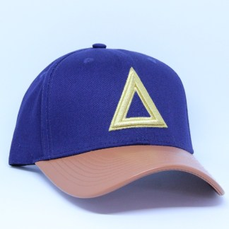Limited Dad Hat Navy & Leather Brim (1)