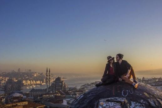 Sunrise Over Istanbul Turkey Secret Rooftop Instagram