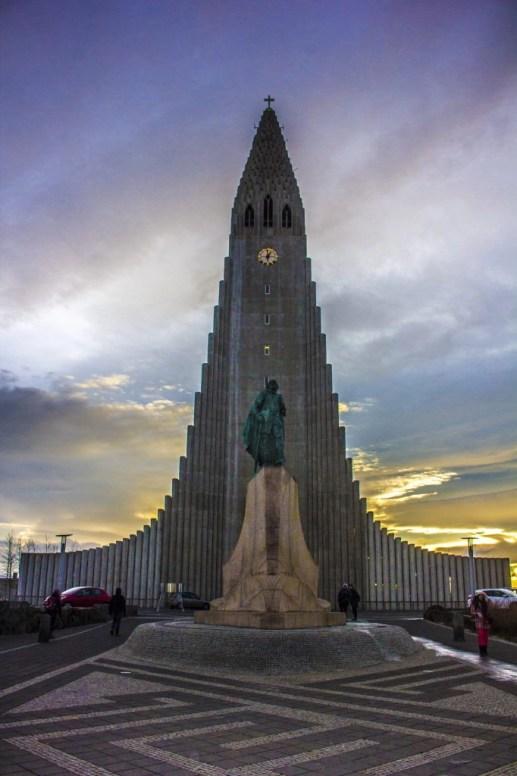 Reykjavik Hallgrímskirkja Iceland Solo Female Travel Roadtrip Winter
