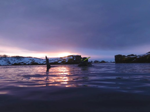 Swimming Between Tectonic Plates floating solo female travel icelend winter roadtrip copy