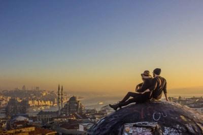 Istanbul secret rooftop best view Valide Han Büyük Valide Han