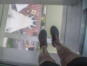 macau tower observation deck view looking down at landing spot bungee jump day trip