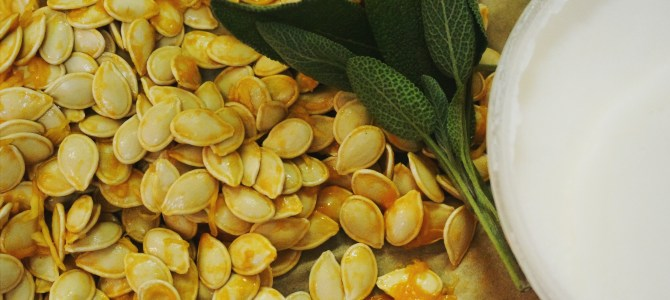 Duck Fat & Sage Roasted Pumpkin Seeds