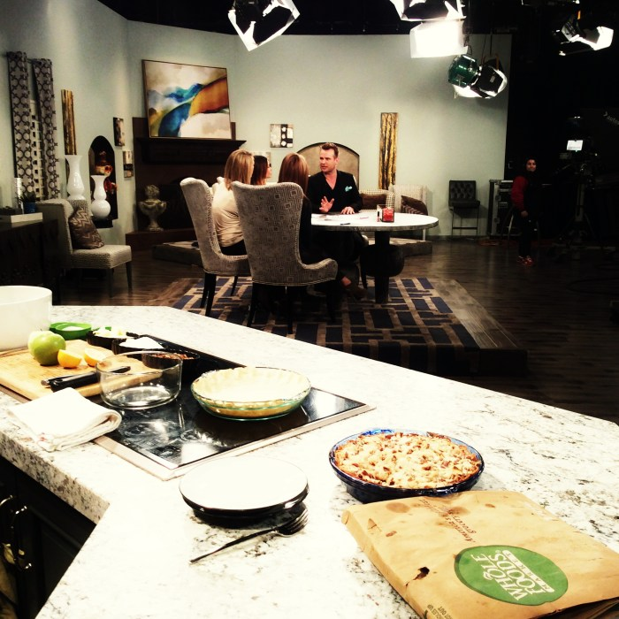 At the Good Things Utah studio - when I made a version of this pie on TV
