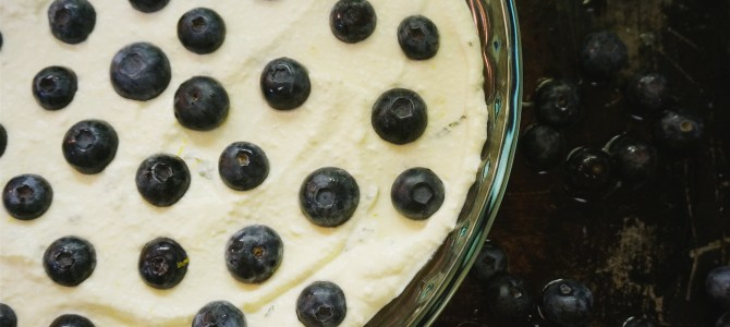 Citrus Blueberry-Mint Baked Ricotta