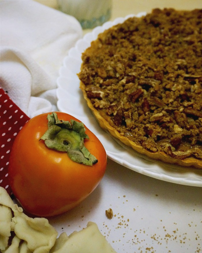 Persimmon Pumpkin Tart with Streusel Top | Suitcase Foodist