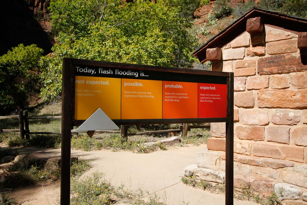 warning sign Yosemite National Park