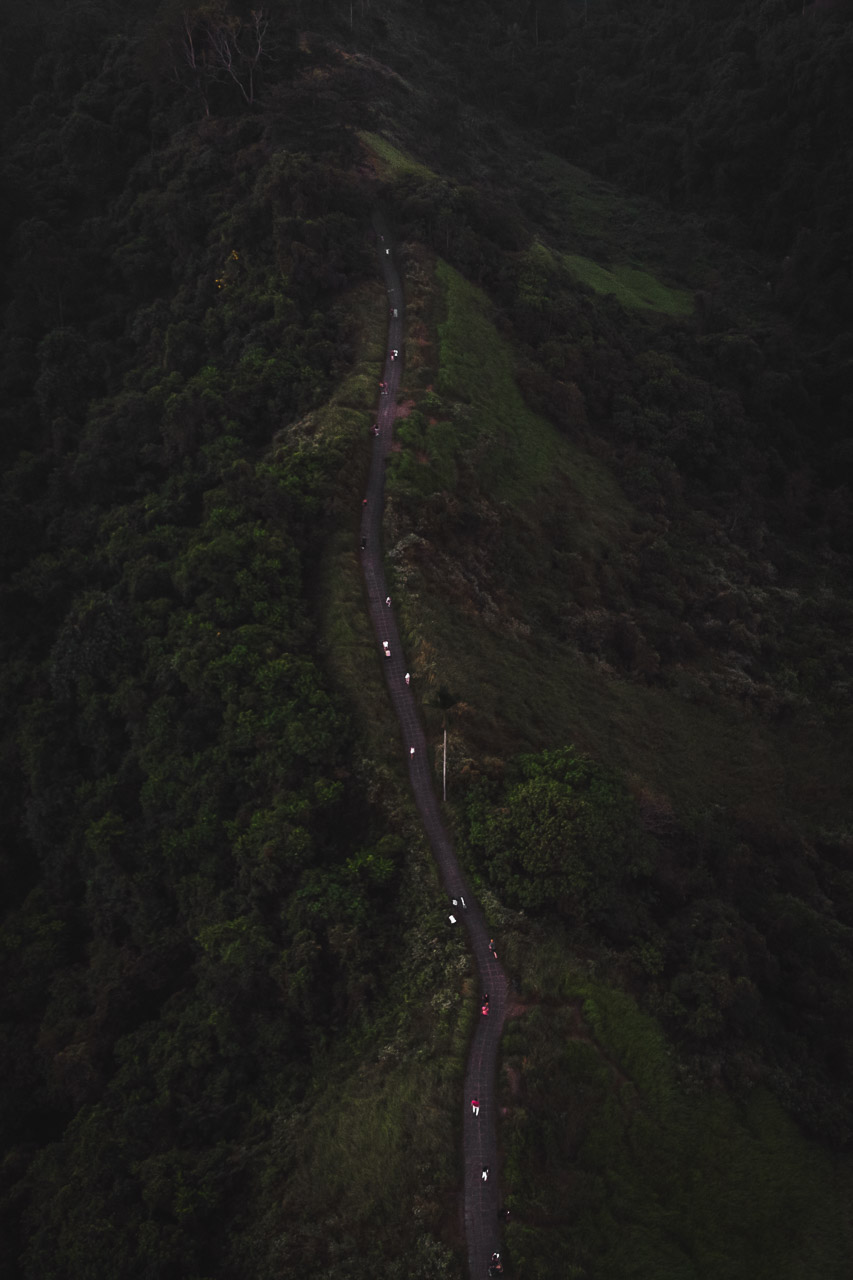 Ubud Campuhan Ridge Walk drone view