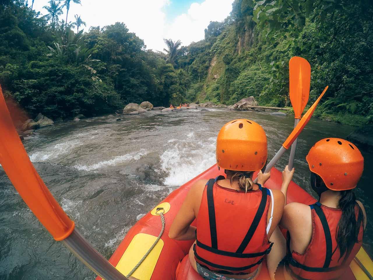 Ubud white water rafting Ayung River