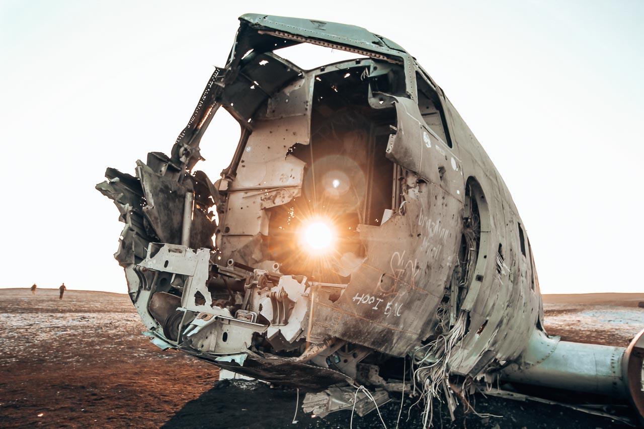 Iceland Route - Road Trip Itinerary -Sólheimasandur plane wreck