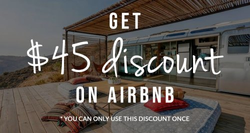 Discount on Airbnb Suitcasestories
