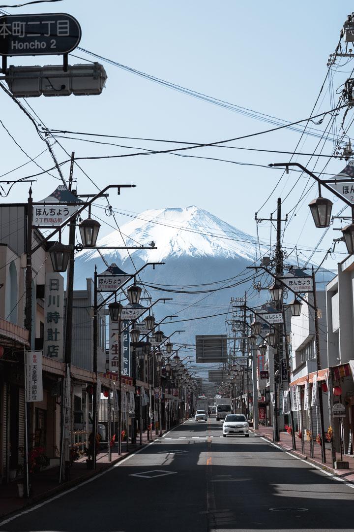 Japan - Shimoyoshida - Mount Fuji street