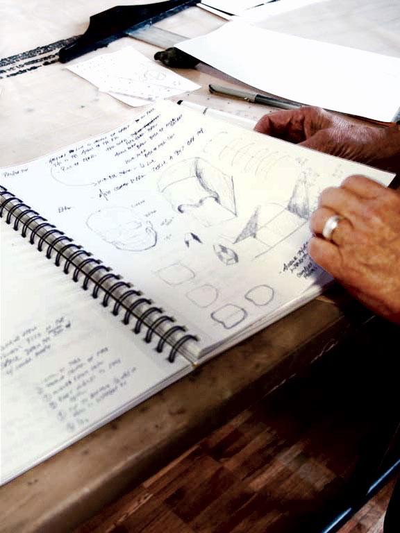 Artist's sketch book