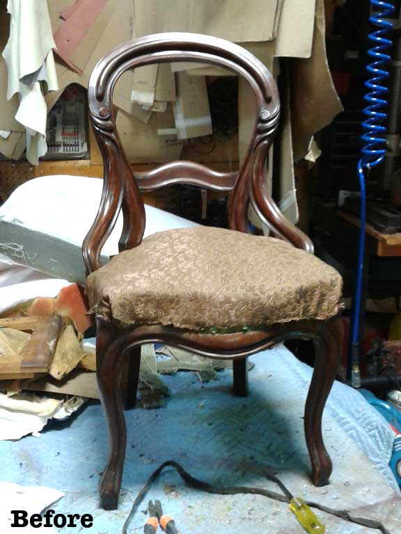 Before Photo of the Maxine Chair