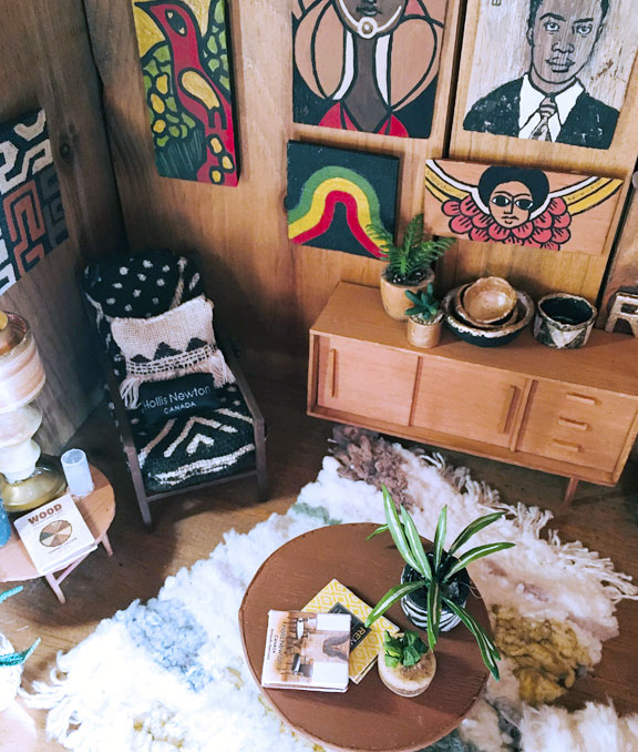 Miniature living room suite with cultural decor