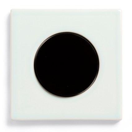 Image: Berker R.3 Ice Blue ceramics, single model + Berker R-series light switch