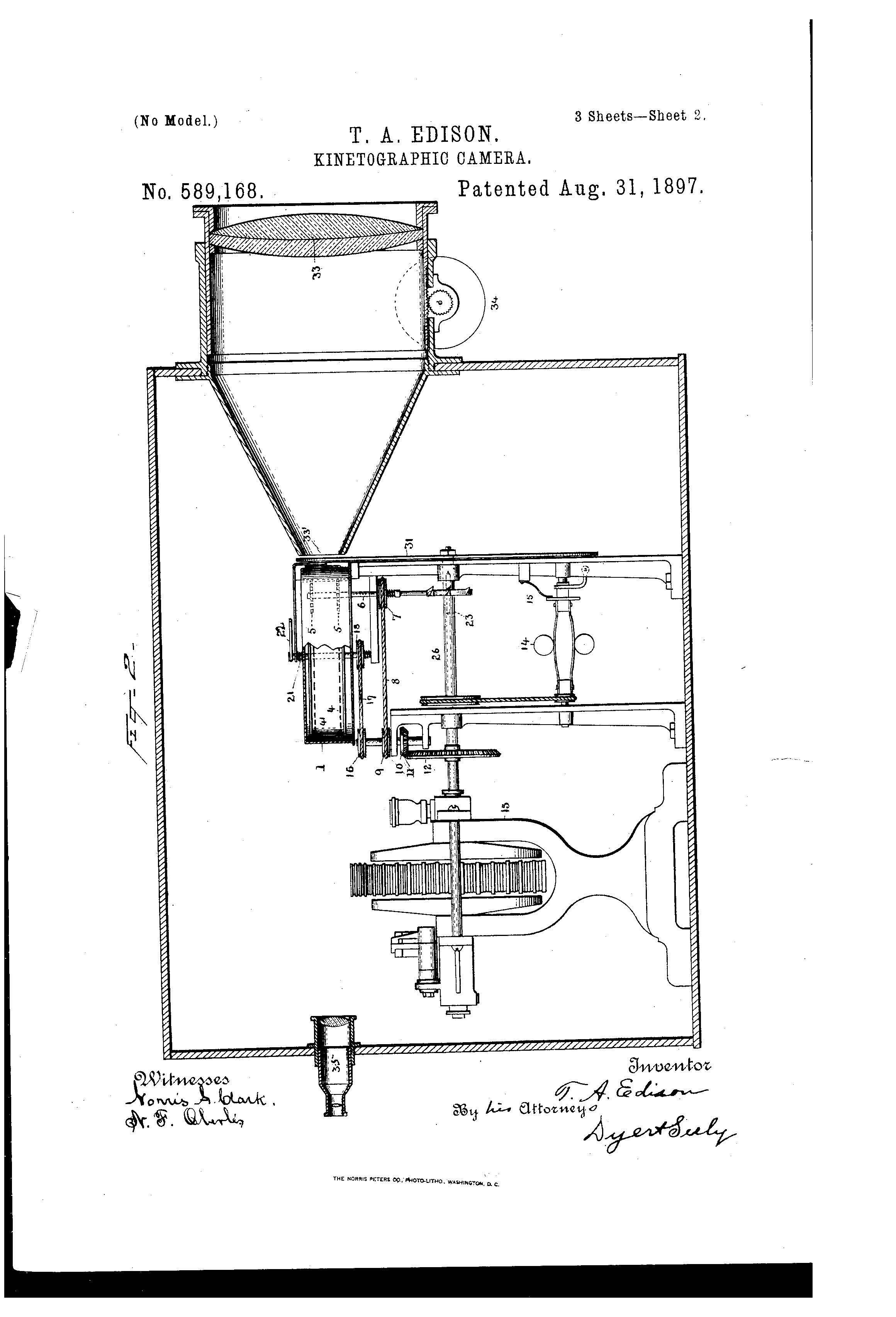 Kinetographic Camera Patent Diagram