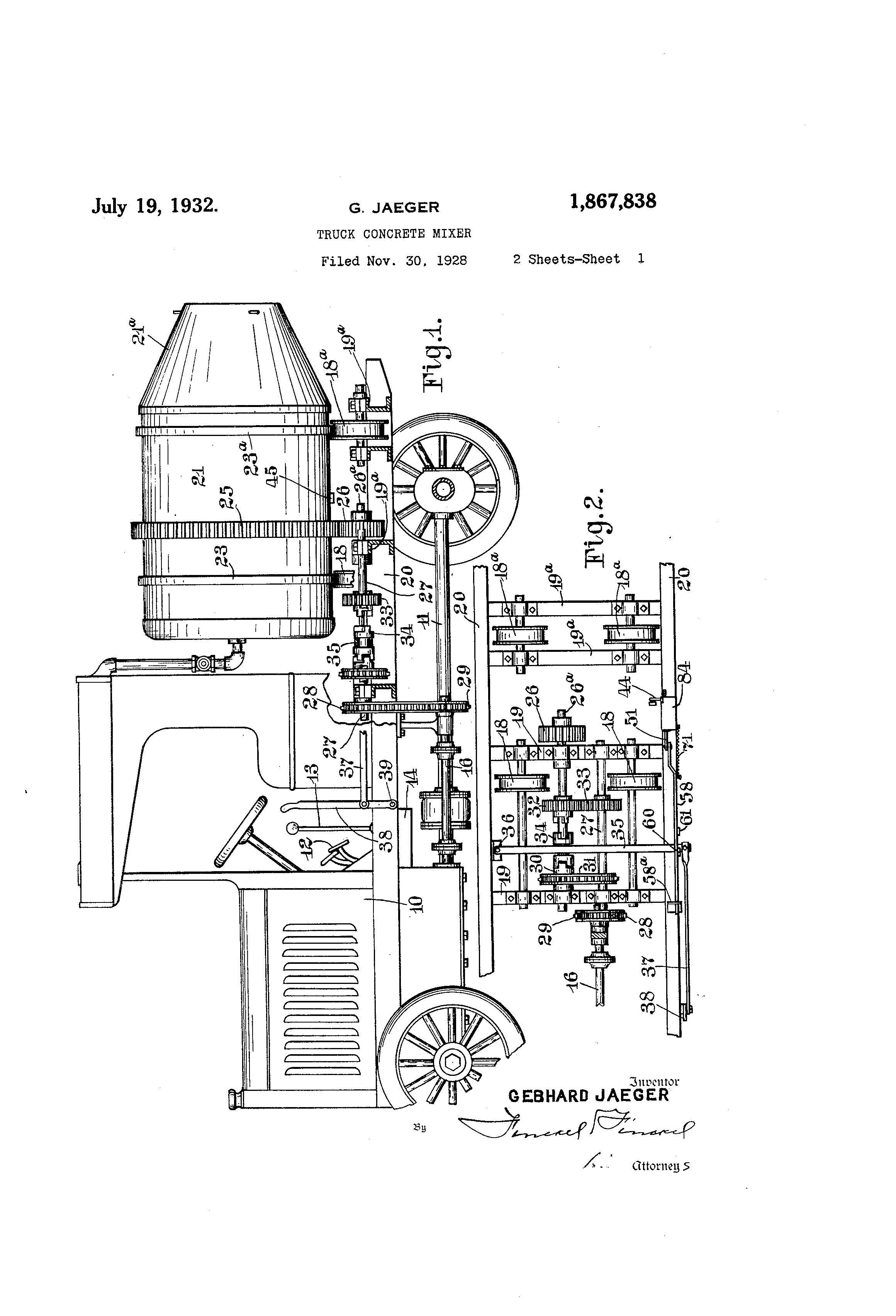 Patent Of The Day Truck Concrete Mixer