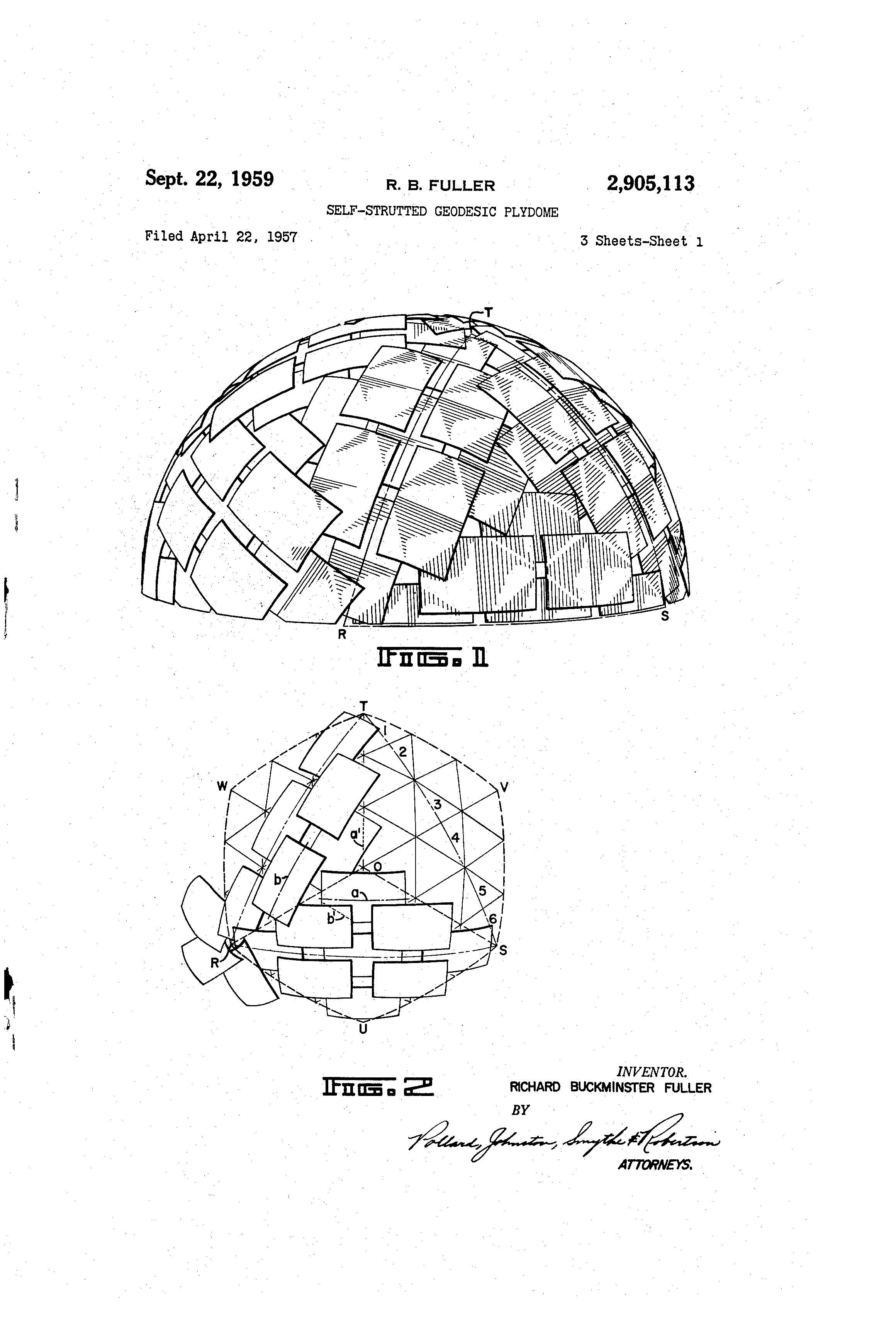 Patent Of The Day Self Strutted Geodesic Plydome