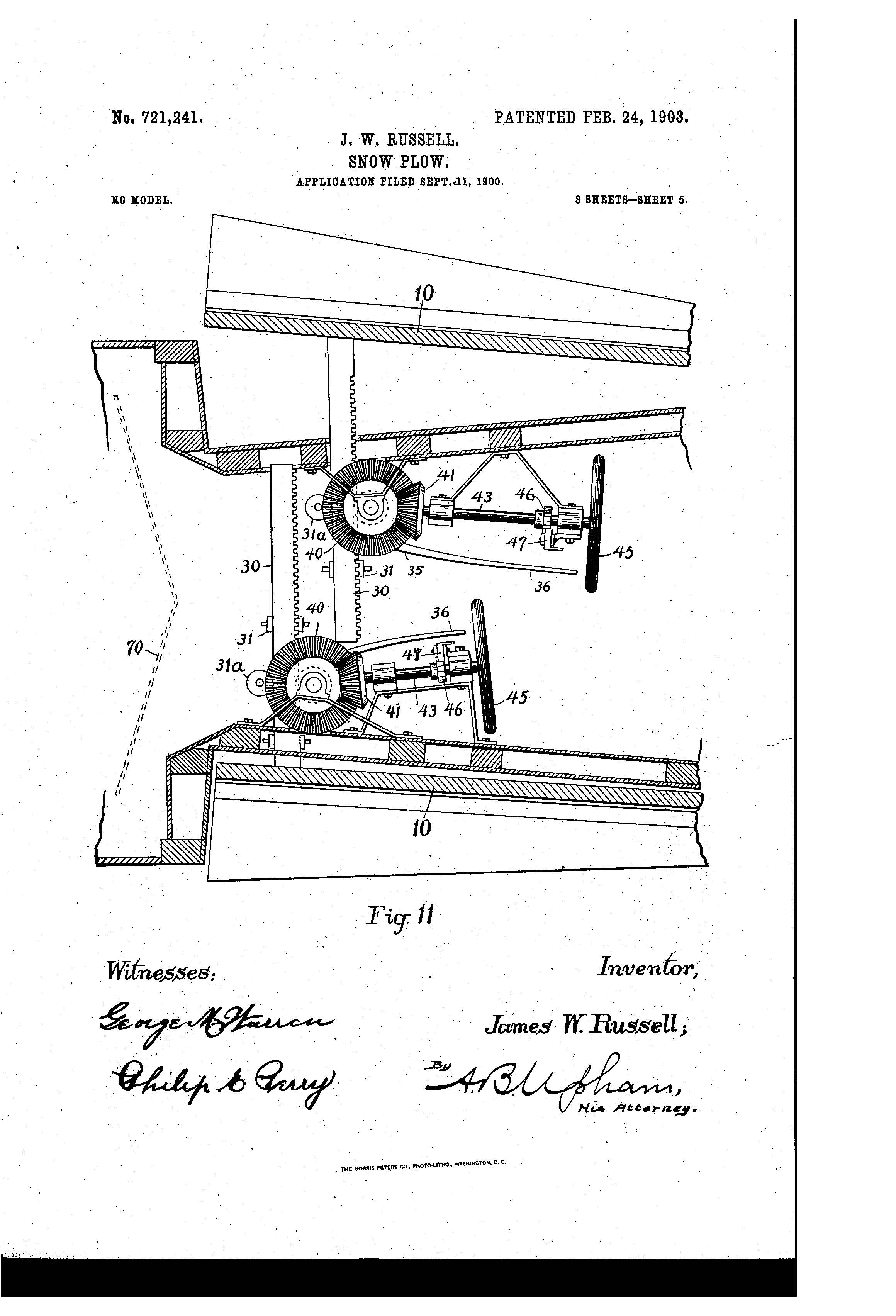 Patent Of The Day Snow Plow