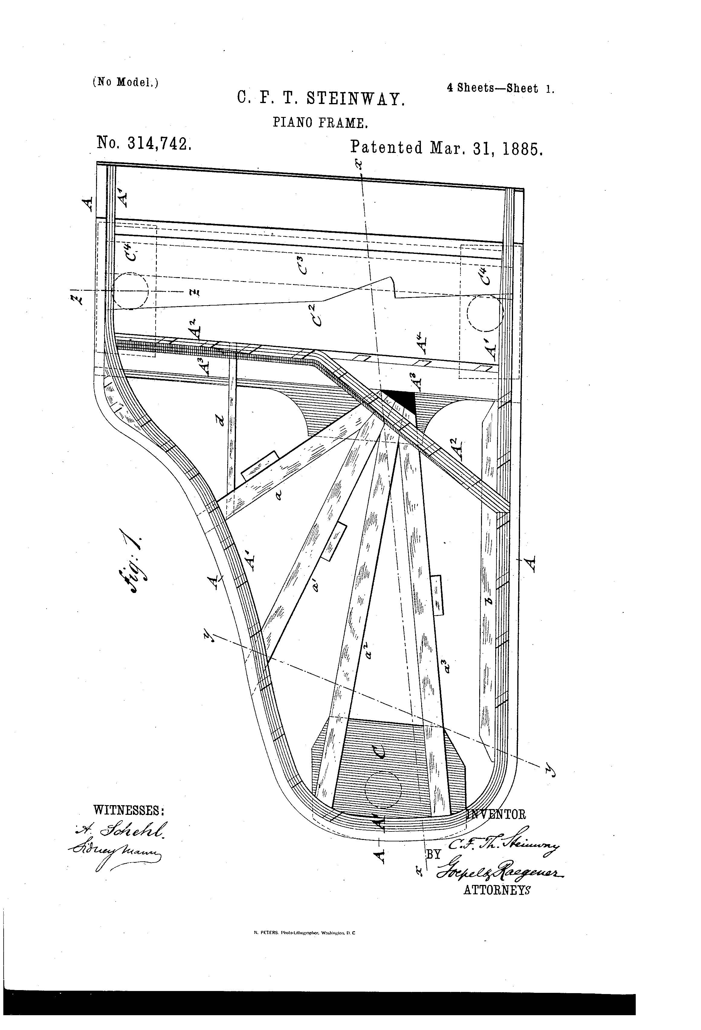 Patent Illustration Piaino Frame Page 1