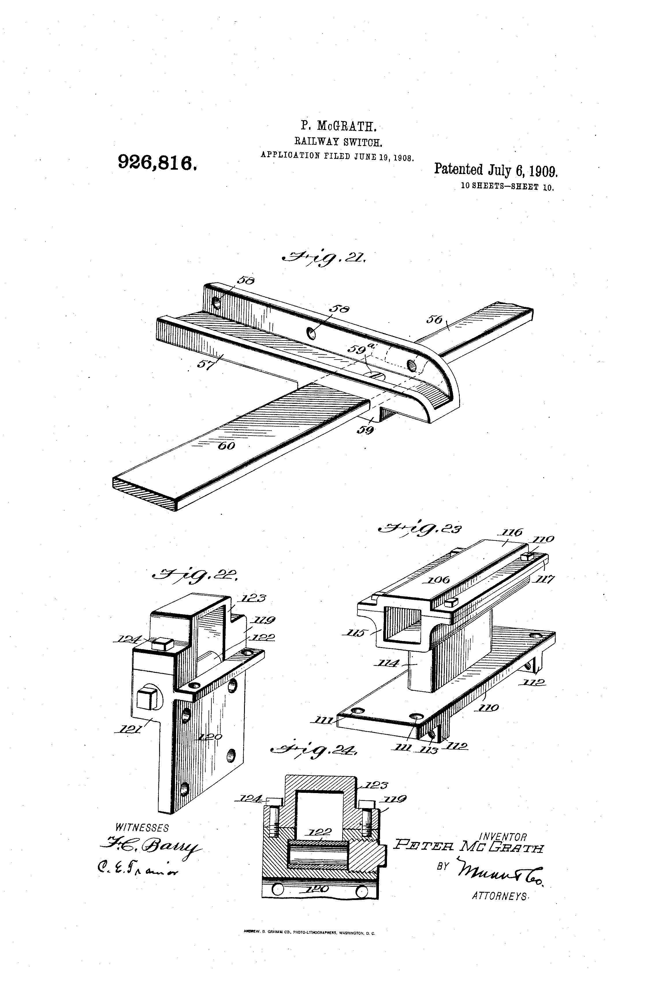 Patent Illustration Railway Switch Page 10