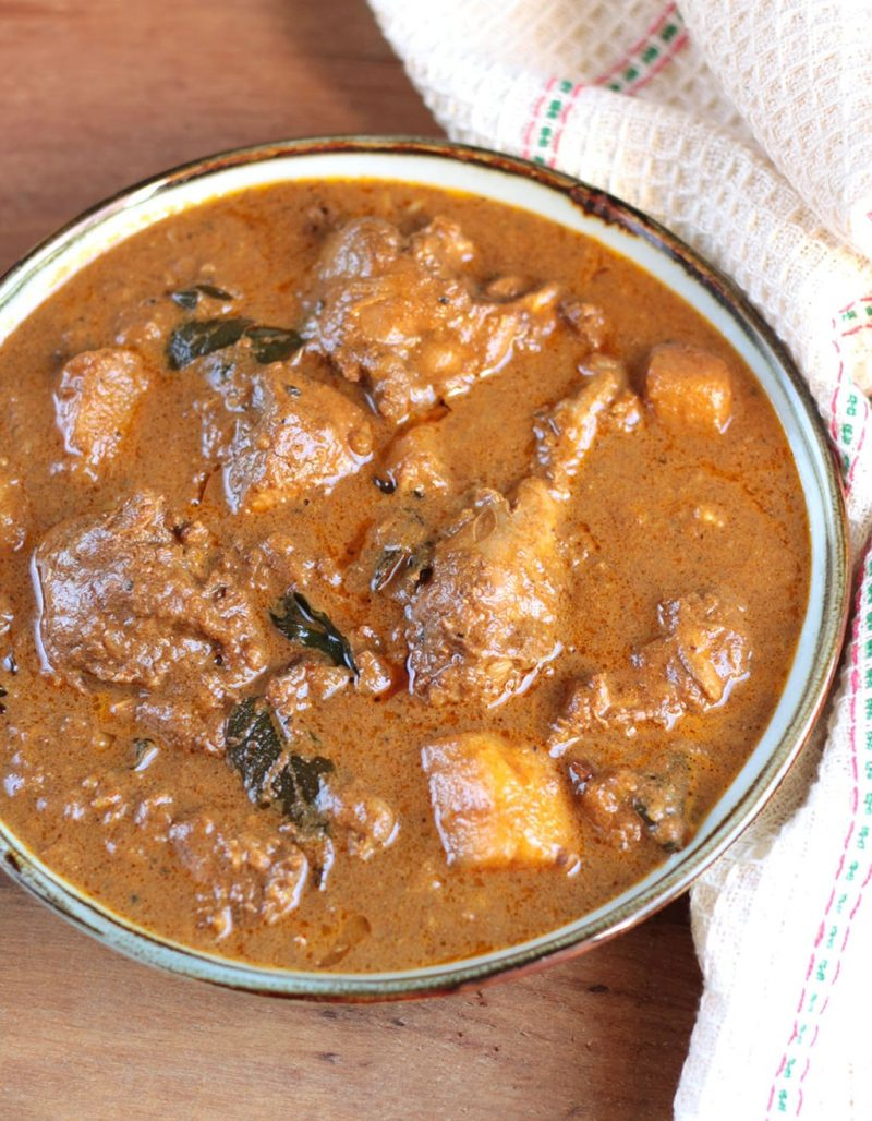Kerala style chicken curry with Potatoes